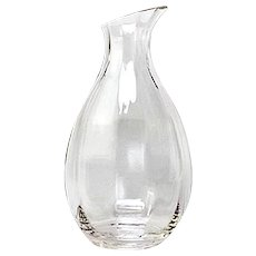 Handcrafted Lead-free Clear Crystal Carafe Decanter NuVin Pattern