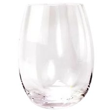 12 Handcrafted Romanian Crystal Stemless Large Red Wine Glasses Tumblers NuVin Pattern