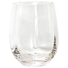 12 Handcrafted Romanian Crystal Stemless White Wine Glasses Tumblers NuVin Pattern