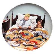 Bing & Grondahl Collector Plate En Kedelig Snue (Bored Sick) by Kurt Ard 1986