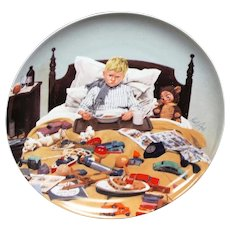 Bing & Grondahl Collector Plate En Kedelig Snue (Bored Sick) by Kurt Ard 1986