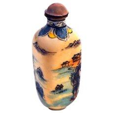 Porcelain Enamel Hand Painted Snuff Bottle
