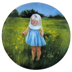 Collector Plate MEADOW MAGIC Special Moments Series Donald Zolan 1989