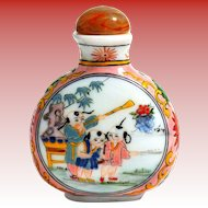Porcelain Enamel Painted Snuff Bottle