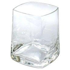 12 Quadrat Stemless Wine All Purpose Glasses Lead-free Crystal from Romania