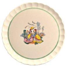 W.S. George Pottery Bolero Plate 10 1/3 inches 1940s-50s
