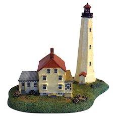 Sandy Hook Lighthouse NJ Danbury Mint Replica 1993