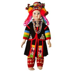 "14"" Hmong Hill Tribe Doll of Thailand"