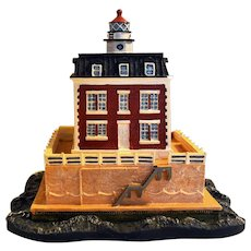 New London Ledge Lighthouse Groton Connecticut Replica from Danbury Mint, 1994