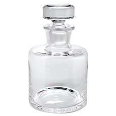 Handcrafted Lead-free Clear Crystal Whiskey Decanter from Romania Sade Pattern