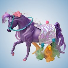SilkyMane Purple Horse of the Lady lovely Locks and the Pixietails Series 1980s
