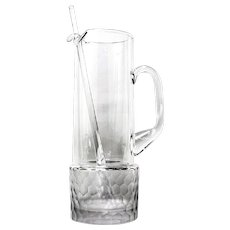 Arctic Frost Martini Pitcher Romanian Lead-free Crystal Honeycomb Pattern