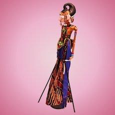 Indonesian Wayang Golek (Shadow Puppet) Doll Nakula