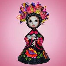 Vintage Papier Mache Mexican Doll