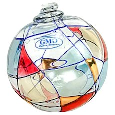 2 Milano Handcrafted Crystal Ornaments w/ 24kg Gold Accents from Romania