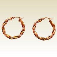 Italian Twisted Hoop Earrings