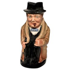 "Royal Doulton Winston Churchill 4"" Toby Jug Mug"
