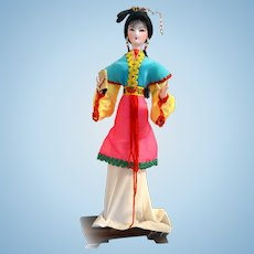 Traditional Chinese Art Silk Figurine Doll