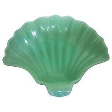 Anchor Hocking Fire King Nautical Jadeite Green Glass Sea Shell Dish