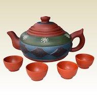 Zisha Clay Teapot Set Jiangsu Province China