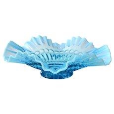 Vintage Fostoria Blue Opalescent Heirloom Bowl