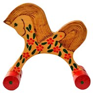 Handcrafted Russian Wooden Horse Vintage 1991