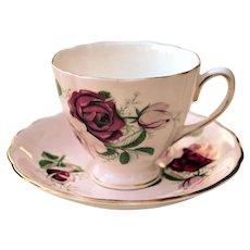 Vintage Colclough Bone China England Tea Cup & Saucer