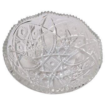 Vintage NuCut Glass Bowl by Imperial Glass Co.