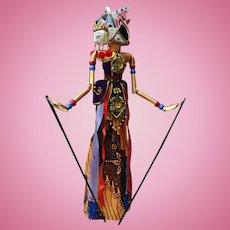 "Indonesian Wayang Golek (Shadow Puppet) Doll ""Shinta"""