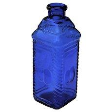Vintage Collectible Cobalt Blue Bottle