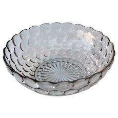 """Vintage Bubble Clear Glass Bowl 8"""""""