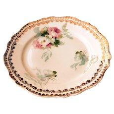 """Vintage Delicate Floral 6"""" Dish w/ Gold Trim Royal #71 Austria"""
