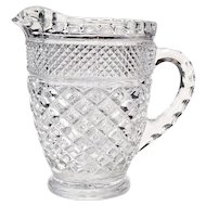 "Vintage Anchor Hocking Wexford Pattern 5 3/4"" Glass Pitcher"