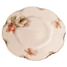 "Vintage Delicate Floral 6"" Dish w/ Gold Trim Germany"
