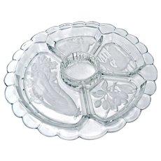 Mid-Century Glass Relish Tray