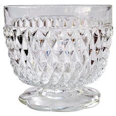 Vintage Glass Footed Bowl Dish