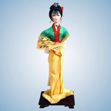 Traditional Chinese Art Silk Figurine Doll