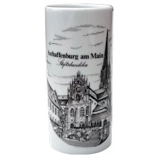 Collectible German Porcelain Handcrafted Mug Stein without Handle