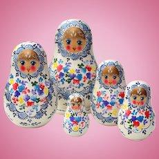 Handcrafted 5 Piece Matryoshka Doll Set