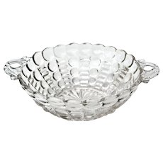 Depression Glass Anchor Hocking Ball and Rib Handled Bowl