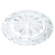 Vintage Pressed Glass Server Tray Platter