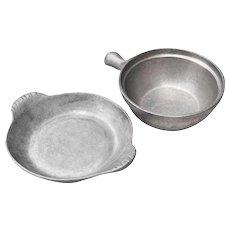 Vintage Bon Chef Pewter Dish & Bowl Set