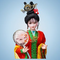Handcrafted Oriental Doll on a Stand