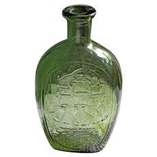 Vintage Decorative  Collectible Green Bottle 1970s
