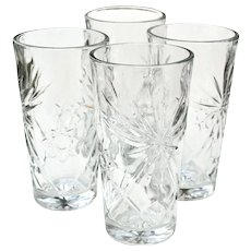 4 Anchor Hocking EAPC Ice Tea Tumbler Glasses