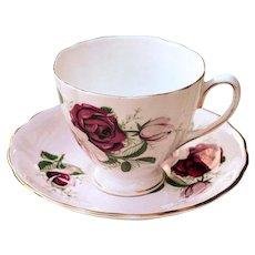 Vintage Colclough Bone China England Tea Cup & Saucer # 7621