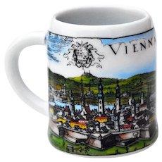 Mini Porcelain Beer Mug Souvenir of Schlogl Vienna Austria