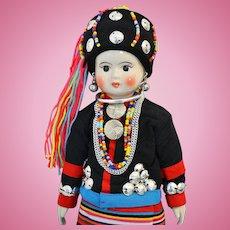 "13"" Laha Hill Tribe Doll of Thailand"