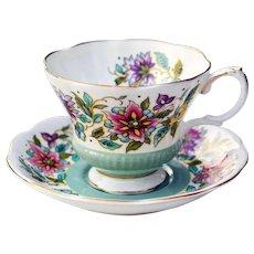 Mid-Century Royal Albert Fine Bone China Jacobean Teacup & Saucer