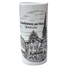 German Porcelain Handcrafted Mug Stein w/o Handle Super Shots Size